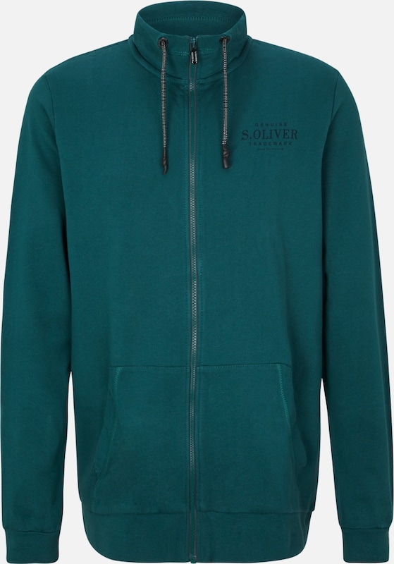s.Oliver Sweatjacke in petrol: Frontalansicht
