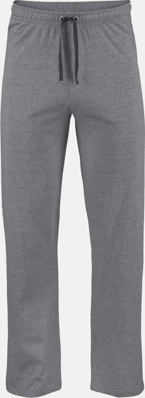 SEIDENSTICKER Pyjama lang mit melierten Blockstreifen