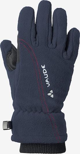 VAUDE Athletic Gloves 'Karibu II' in marine blue / Red / White, Item view