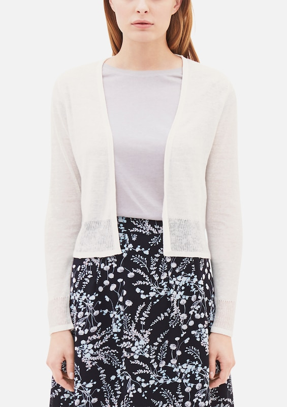s.Oliver BLACK LABEL Zarter Cardigan aus Leinen-Mix