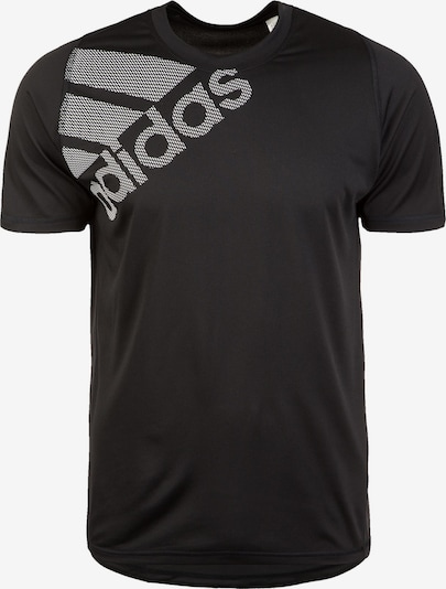 ADIDAS PERFORMANCE Functioneel shirt 'Freelift Badge of Sport Graphic' in de kleur Zwart / Wit, Productweergave