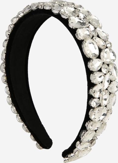 We Are Flowergirls Haarreifen 'Diamond' in schwarz / weiß, Produktansicht