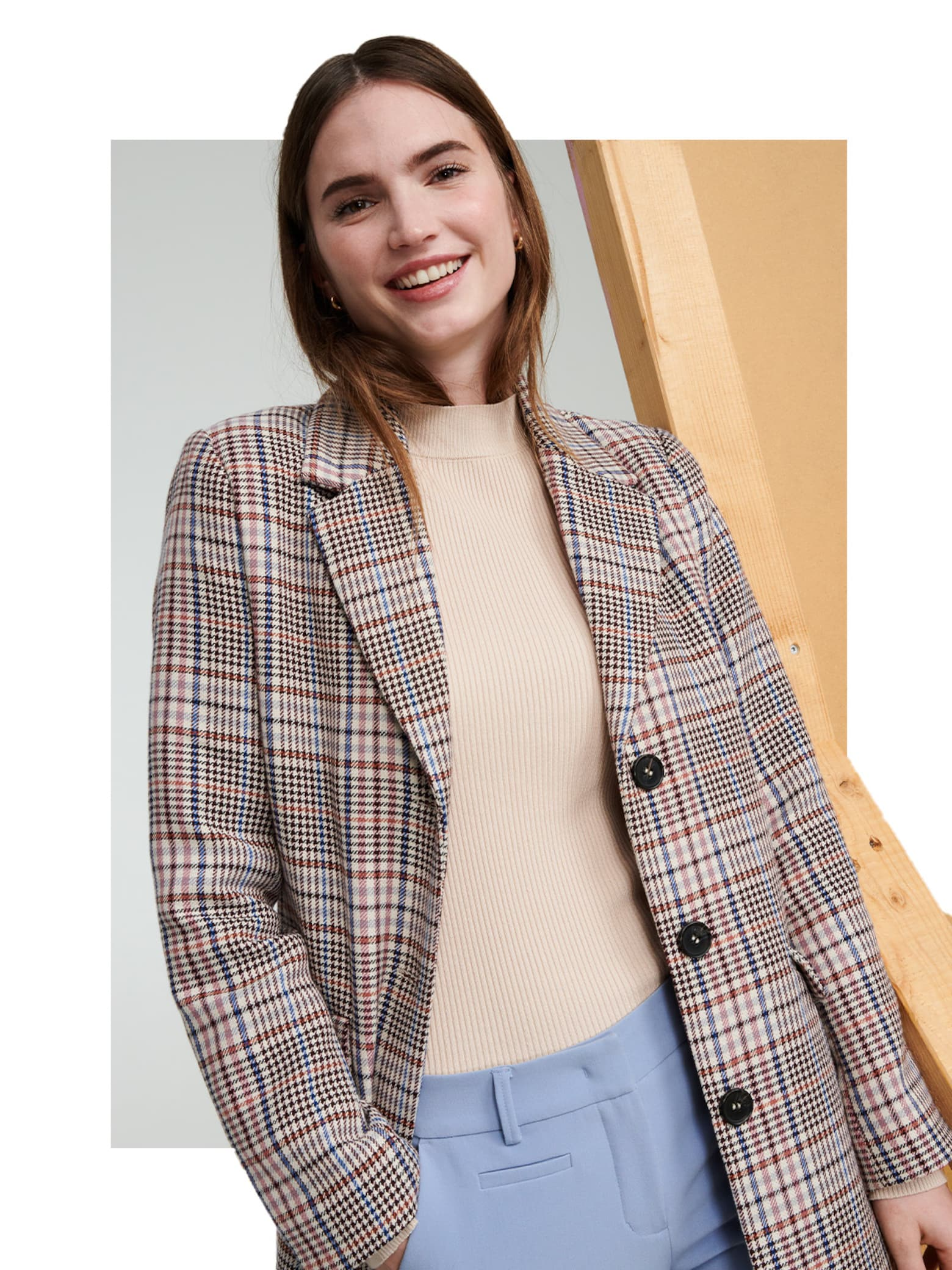 Dalia - Checked Business Coat