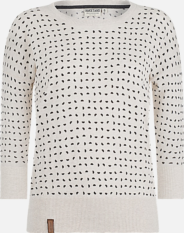 naketano Longsleeve 'Maja with Melons' in creme / schwarz, Produktansicht
