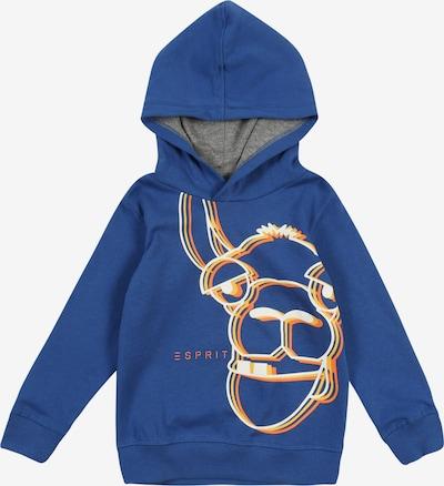 ESPRIT Pullover in dunkelblau / gelb / orange / weiß, Produktansicht