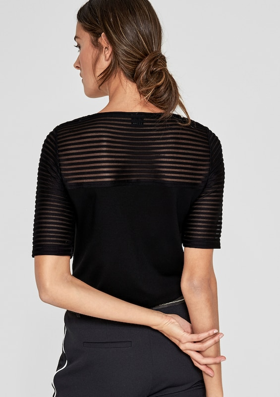 S.oliver Black Label T-shirt With Transparency-effect