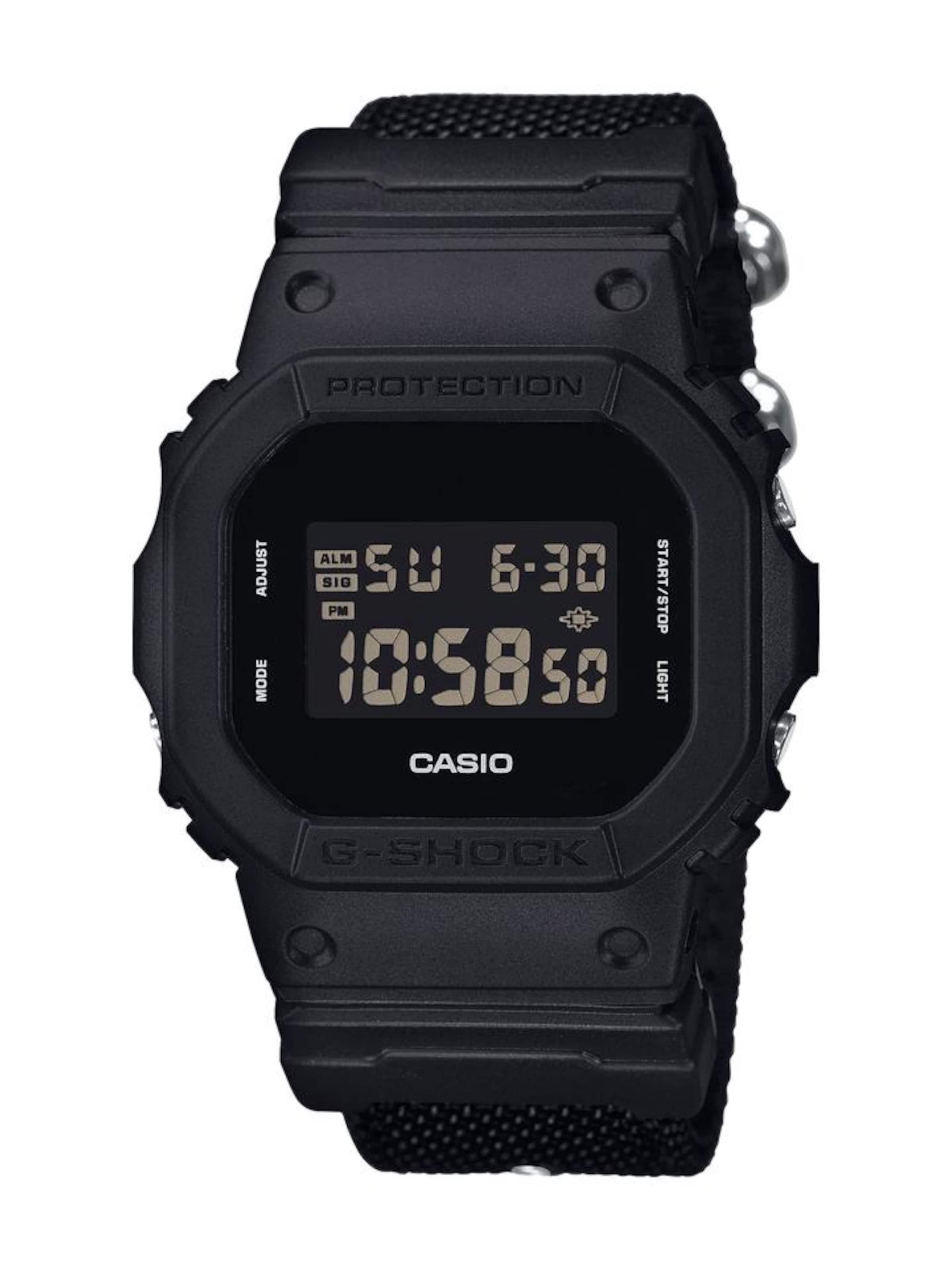 Original- CASIO G-Shock Chronograph 'DW-5600BBN-1ER' Frei Versendende Qualität Niedriger Preis Spielraum Geringe Versandgebühr Bilder Im Internet hrN0ypUN