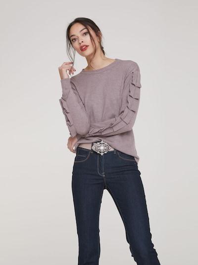 Megztinis iš heine , spalva - rausvai pilka: Vaizdas iš priekio