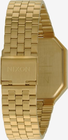 Nixon Armbanduhr 'Re-Run' in gold / schwarz: Rückansicht