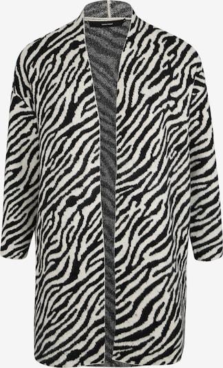Vero Moda Curve Strickjacke 'ZEBS' in beige / schwarz, Produktansicht