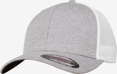 Flexfit Cap in hellgrau / weiß, Produktansicht