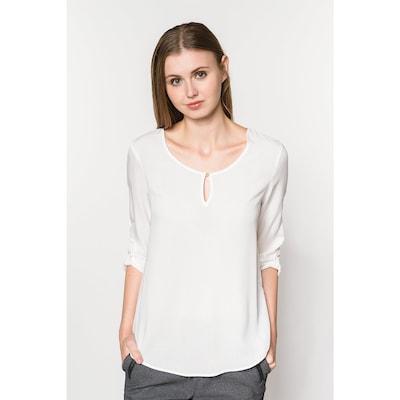 Bluză 'VMBUCI' VERO MODA pe alb: Privire frontală