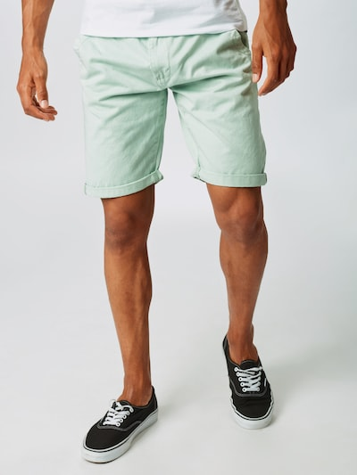 INDICODE JEANS Shorts 'Royce' in mint, Modelansicht