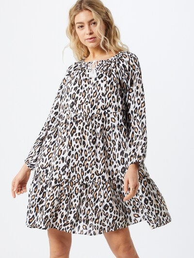 Zwillingsherz Kleid 'Luna' in beige / schwarz / weiß, Modelansicht