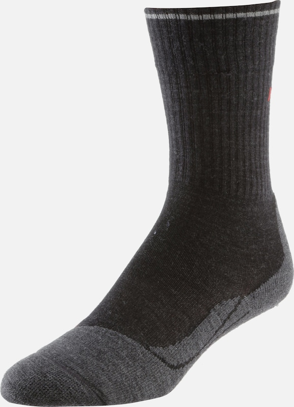 FALKE TK2 Wool Silk Wandersocken Damen in anthrazit, Produktansicht