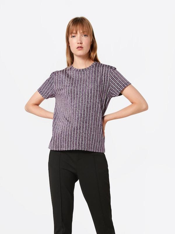 Violet 'posazalea FoncéBlanc Postyr En shirt T ' EI2DWH9