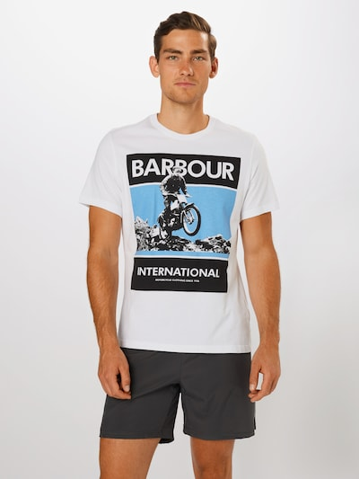 Barbour International T-Shirt en mélange de couleurs / blanc: Vue de face