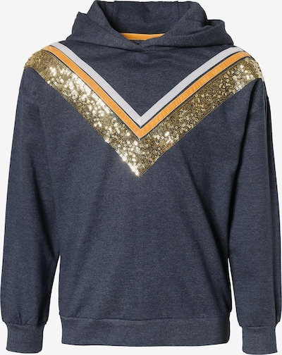 LEMON BERET Sweatshirt in rauchblau / gold / orange / weiß, Produktansicht