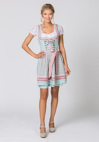 STOCKERPOINT Dirndl 'Katrin' en bleu clair / rose clair, Vue avec modèle
