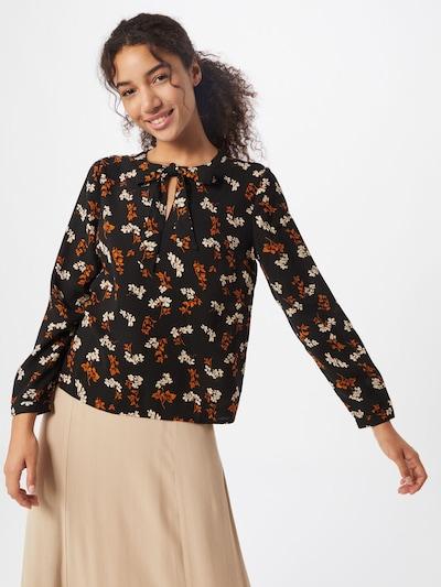 ABOUT YOU Bluse 'Elina' in orange / schwarz / weiß, Modelansicht