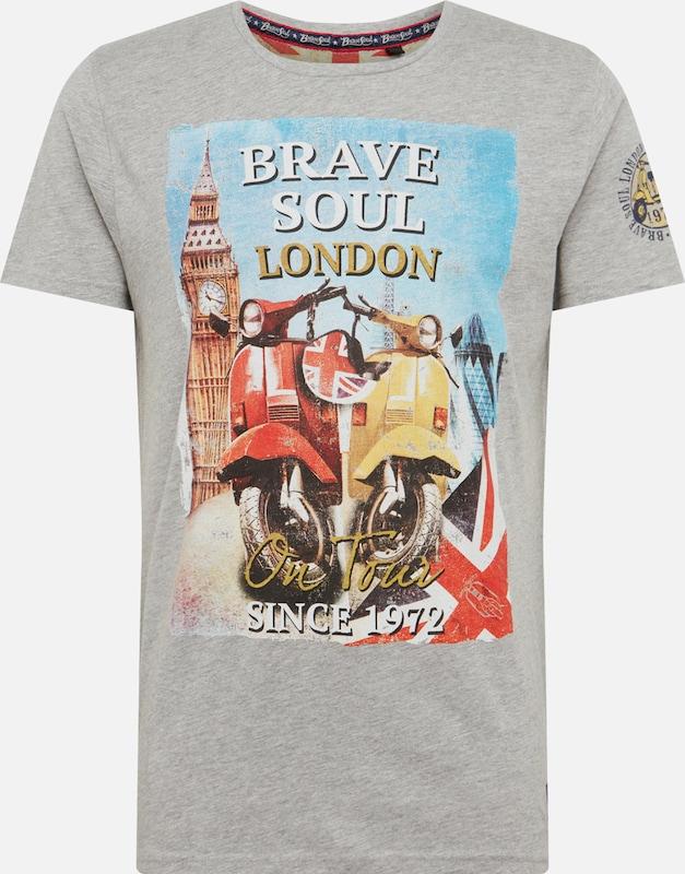 Brave Soul shirt ClairMélange T Gris Couleurs En De n0kwOP