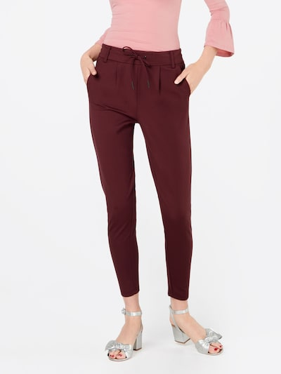 ONLY Trousers 'ONLPoptrash' in wine red, View model