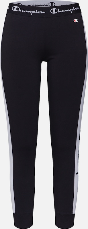 Champion Authentic Athletic Apparel Pantalon en noir / blanc, Vue avec produit