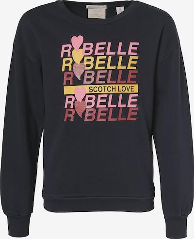 Scotch R'Belle Sweatshirt in nachtblau / gelb / pink / dunkelrot, Produktansicht