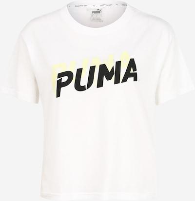 PUMA Funkcionalna majica | neonsko rumena / črna / bela barva, Prikaz izdelka