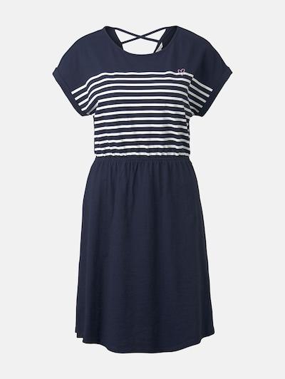 TOM TAILOR DENIM Kleid in blau / weiß, Produktansicht