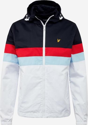 Lyle & Scott Tussenjas 'Contrast Yoke Jacket' in de kleur Navy / Wit, Productweergave