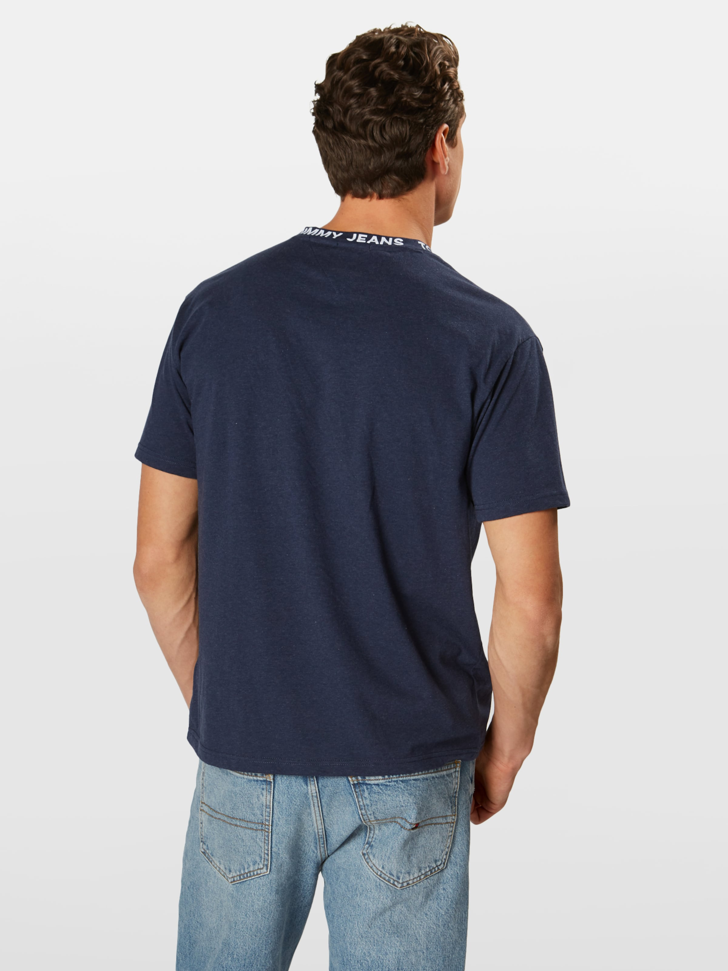 Shirt In 'heather Collar Jeans Donkerblauw Tommy Tee' Branded Yyf7gb6