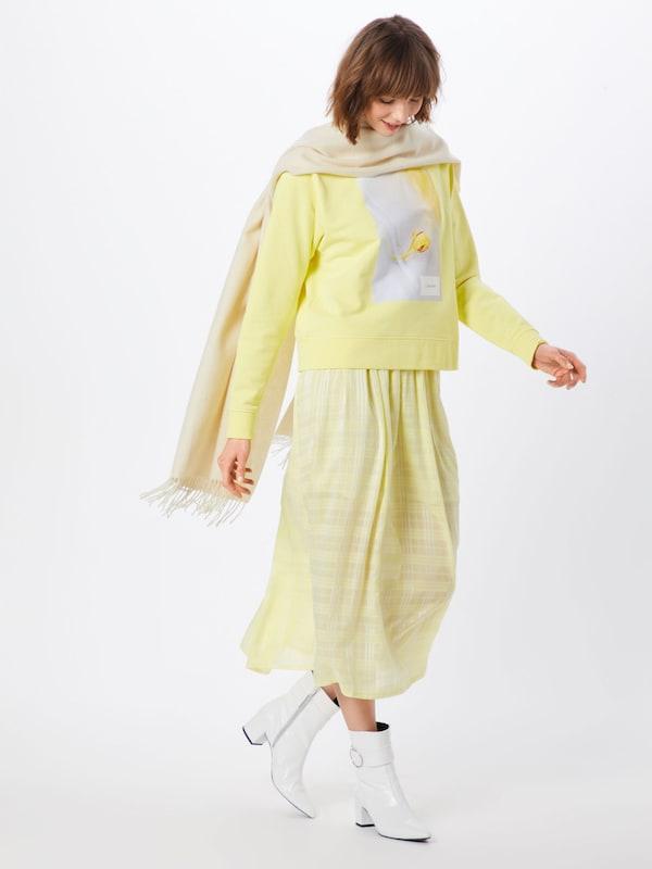 De Couleurs shirt 'graphic JauneMélange Calvin Klein En Sweat Flower' wN8Om0vn