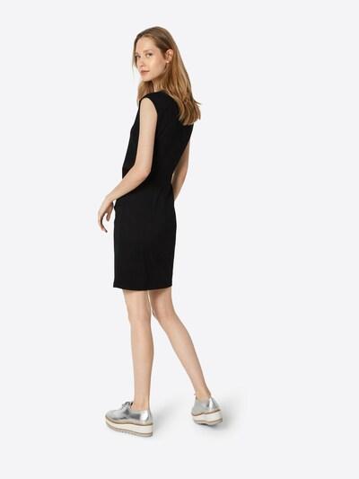 Kaffe Jersey-Kleid 'India' in schwarz: Rückansicht