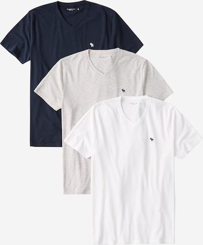 Abercrombie & Fitch Tričko - námořnická modř / šedý melír / bílá, Produkt