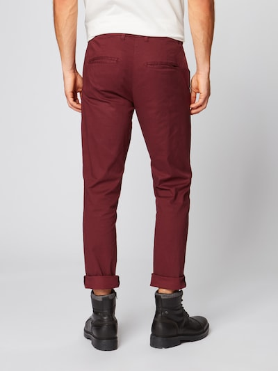 SELECTED HOMME Pantalon en rouge sang: Vue de dos