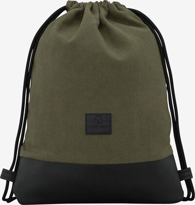Krepšys-maišas 'Luke' iš Johnny Urban , spalva - žalia / juoda: Vaizdas iš priekio