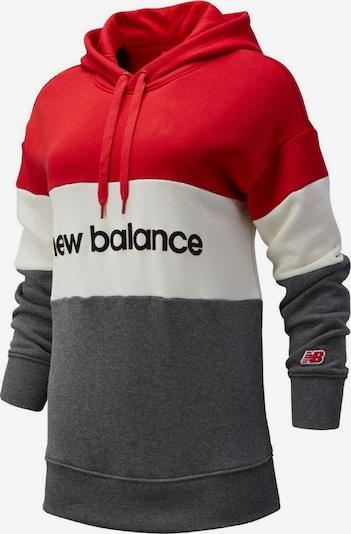 new balance Sweatshirt 'Athletics Stadium' in graumeliert / rot / weiß, Produktansicht