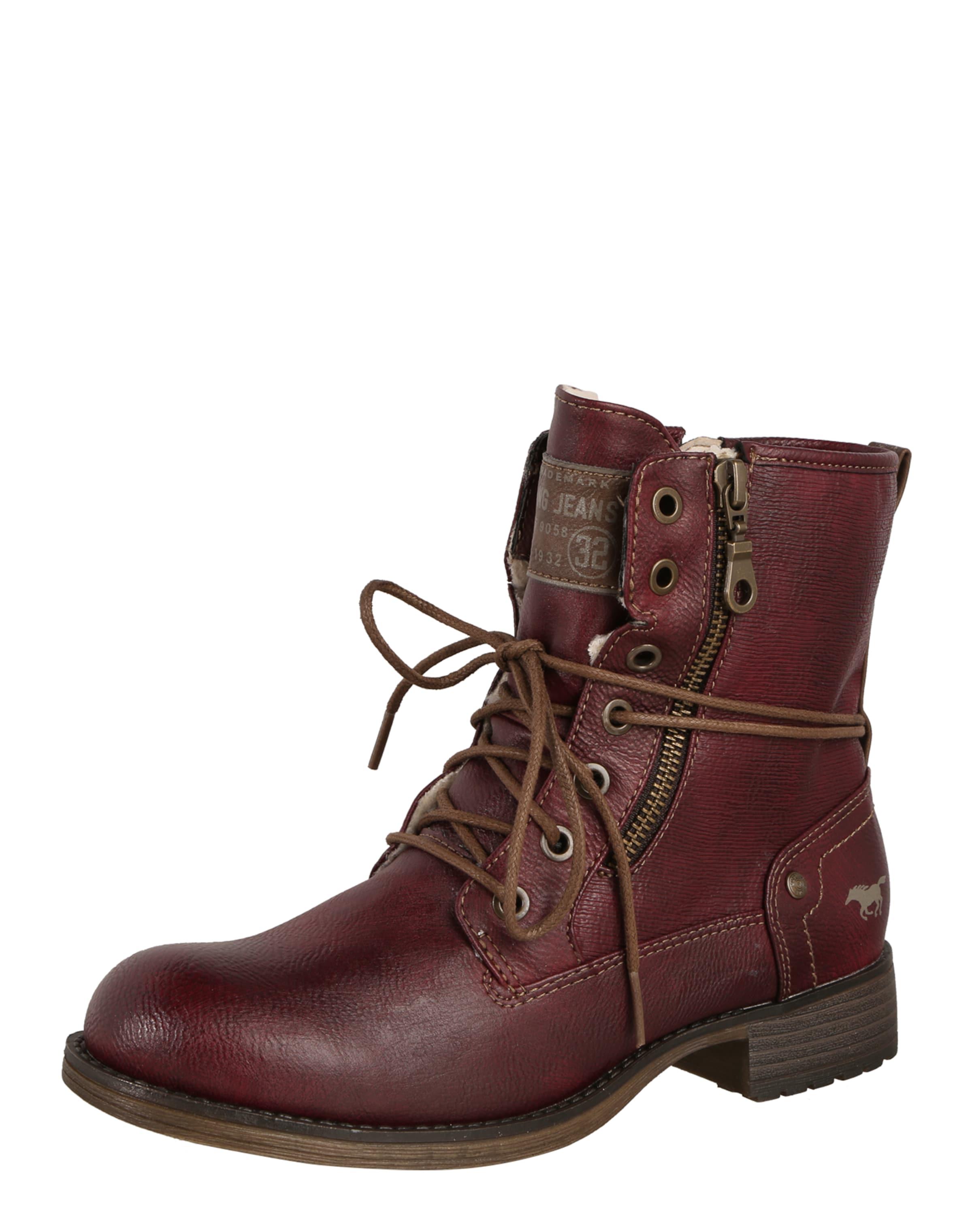 MUSTANG Schnürstiefelette mit Zipper Verschleißfeste billige Schuhe