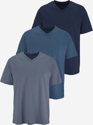 Maier Sports T-Shirt in blau / nachtblau / taubenblau, Produktansicht