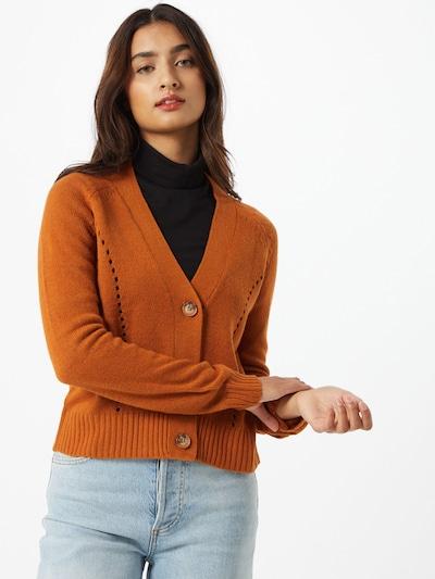 JACQUELINE de YONG Strickjacke in karamell, Modelansicht