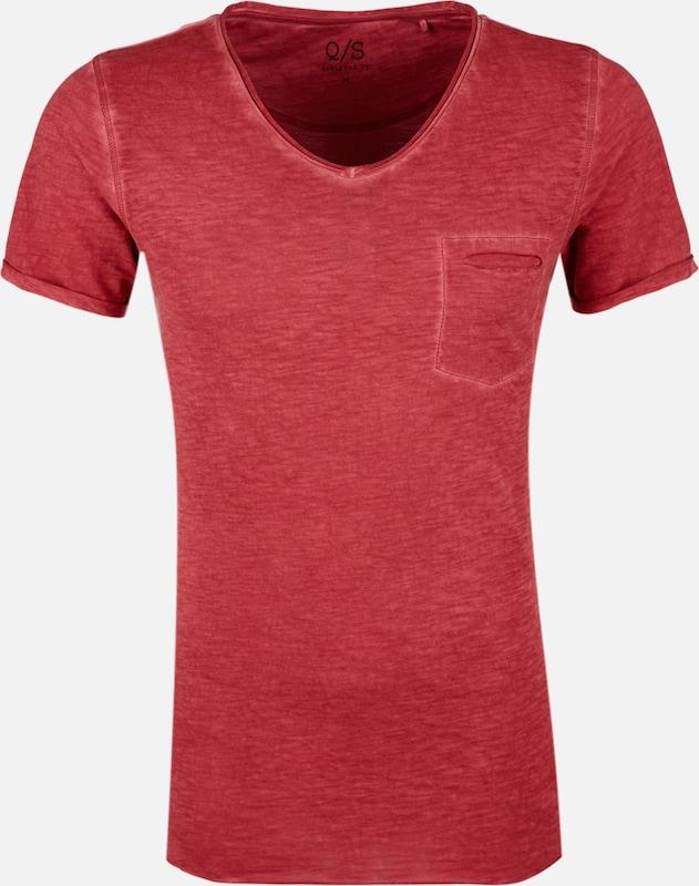 Q/S designed by Slub Yarn-Shirt mit Brusttasche