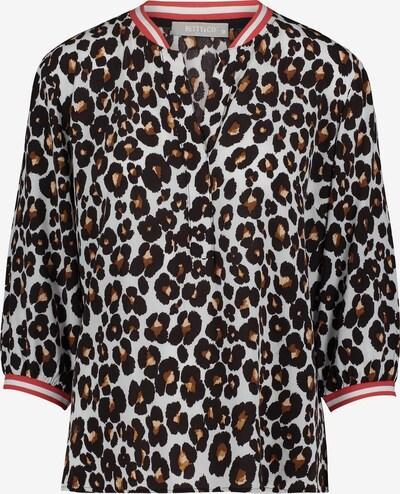 Betty & Co Casual-Bluse in gelb / schwarz / weiß: Frontalansicht