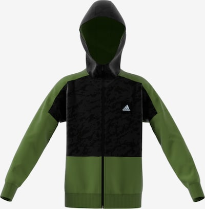 ADIDAS PERFORMANCE Trainingsjacke 'ID Cover Up' in hellgrün / schwarz, Produktansicht