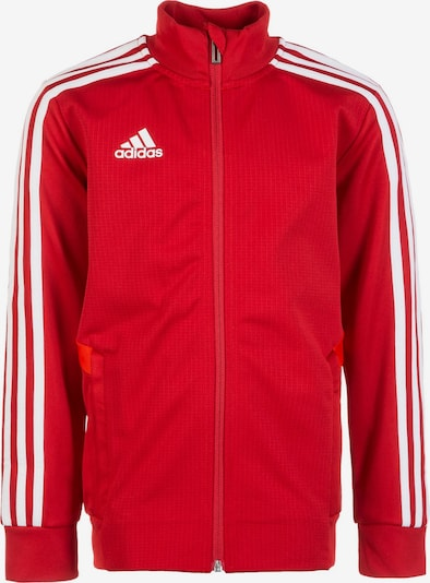 ADIDAS PERFORMANCE Trainingsjacke 'Tiro 19' in rot / weiß, Produktansicht