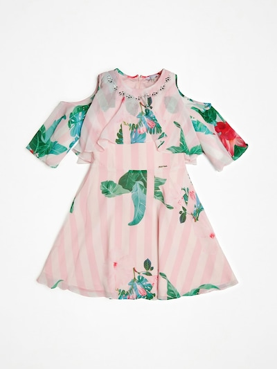 GUESS KIDS Kleid in grün / pink, Produktansicht