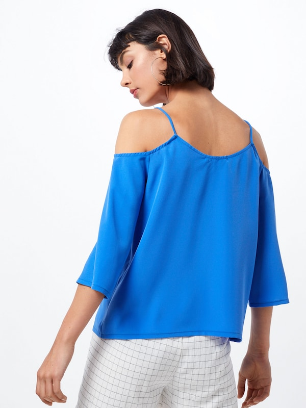 ABOUT YOU Bluse 'Carina' in blau: Rückansicht