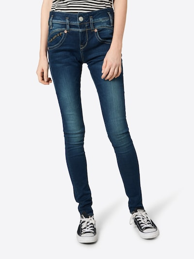 Herrlicher Jeans 'Pearl Slim' in blue denim, Modelansicht