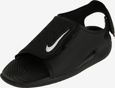 Nike Sportswear Badeschuhe 'Sunray Adjust 5' in schwarz / weiß, Produktansicht