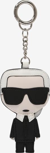 Karl Lagerfeld Schlüsselanhänger 'ikonik karl' in schwarz / weiß, Produktansicht
